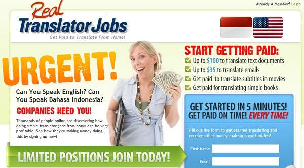 RealTransaltorJobs.com Homepage